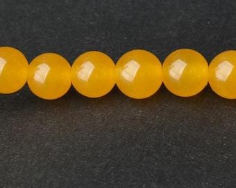 Yellow Chalcedony Beads - 15'' Full Strand Gemstone Beads - Genuine Natural Stone bead