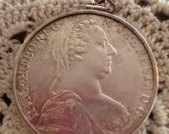 Empress Theresa Marie Coin Pendant