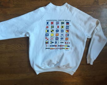 Vintage Sailing International Code of Signs crewneck sweatshirt