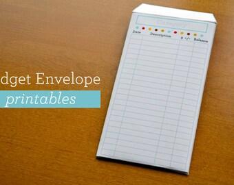 Budget Envelope PDF Printable - INSTANT DOWNLOAD - Cash Envelope Printable