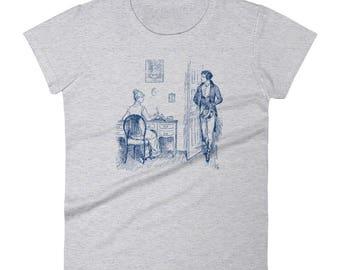 Mr Darcy T-Shirt, Jane Austen T-Shirt, Pride and Prejudice Shirt, Womens Literary Gift, Classic Literature Tee, Womens Mr Darcy T-Shirt