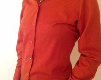 Vintage Western shirt - Western long sleeve button up - Slim fitting western shirt