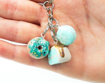 SuperSweet Luxury Clay Charm Keychain Set