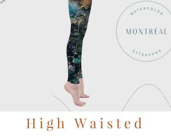 Galaxy leggings, Aerial Hoop clothing, Hula Hoop, Yoga, Pilates, Dark leggings. Wearable Art, Celestial,  Clothing, Constellation,