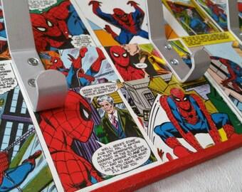 Superhero Coat Hook. Spiderman Hulk Superman Batman. 3 or 5 Hook Coat Rack. MADE TO ORDER