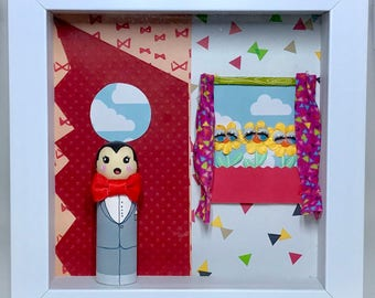 Pee-wee's Playhouse Wooden Peg Doll Shadow Box