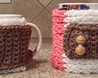 Set of 2 Mug Cozies (adjustable)