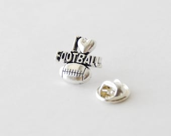 Football Tie Pin, Football Lapel PIns, Football Lover Gifts, Football Tie Tack, Football Coach Gifts, Football Gift, Quarterback Pin, Ties