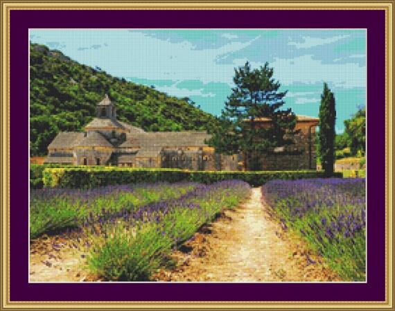 Abbaye De Senanque Cross Stitch Pattern /Digital PDF Files /Instant downloadable