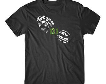13.1 Miles Running Shoe Print Half Marathon Runner T-Shirt