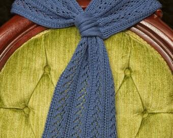 Majestic Blue Lace Merino Wool & Tencel