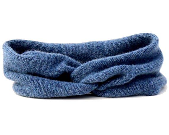 Blue Cashmere Headband