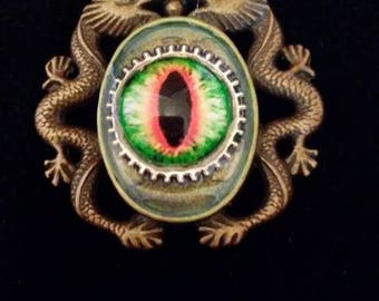 Eye of the dragon - Steampunk Pendant