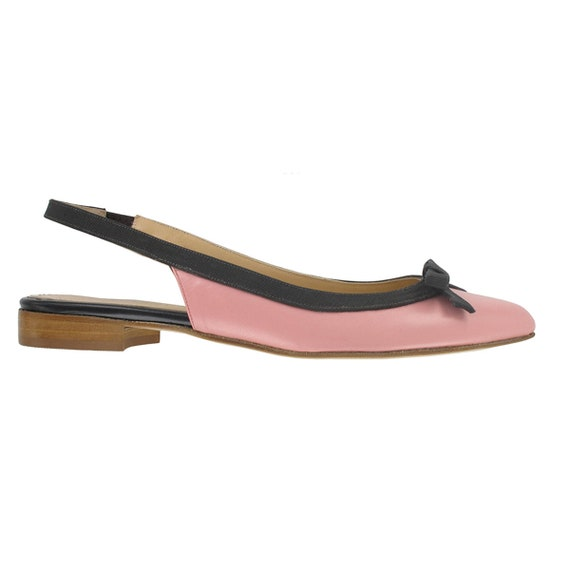leather slingback pointy pointed Shoes made pink flats Costa flat Pink women leather flat leather Italy pointy toe in Women 51040f