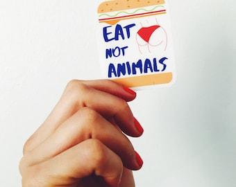 Eat Booty not Animals (Stickers, Instagram, Tumblr, Pinterest, vegan, vegetables, Vegetarian)