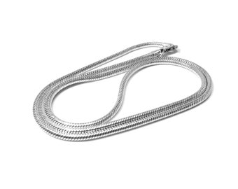 Zilver snake ketting 2.0 mm