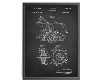 Rocking Horse Patent Art Print - Toy Patent Print