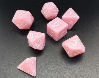 Bubblegum Pink Dice set - Dungeons and Dragons dice - Polyhedral dice