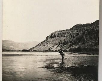 "Vintage Photo ""The River Gentleman"" Snapshot Antique Black & White Photograph Paper Found Ephemera Vernacular Interior Design Mood - 7"