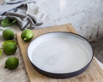 Ceramic Bake Dish, baking dish, Pie Plate , Ceramic casserole dish, Serving Bowl, Unique serving dish,  Wedding Gift Idea, Baking Gift