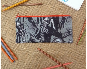 Walking Dead Pencil Case, Personalised Zombie Pencil Case, The Walking Dead Stationery, Walking Dead Gift, cosmetic case, make up bag, TWD