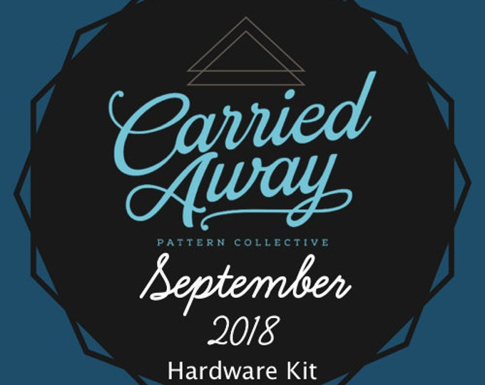 Carried Away Pattern Collective - September 2018 Hardware Kit - Swoon Patterns - Blue Calla Patterns
