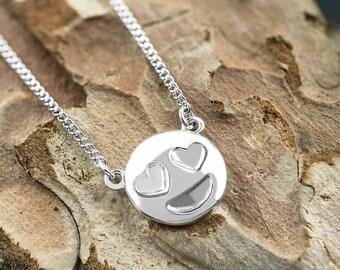 Heart Eyes Love Emoji Necklace Pendant