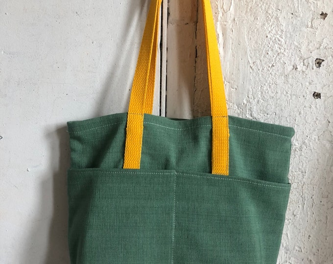 Rio tote in linen and canvas