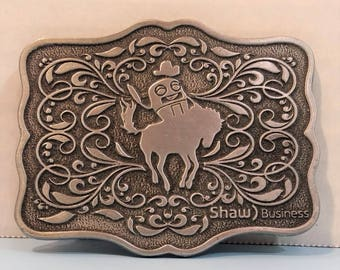 Shaw Business Calgary Rodeo Belt Buckle Men's or Lady's 3 inches x 2.25 inches