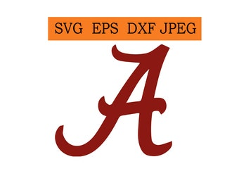 alabama logo etsy rh etsy com alabama football logo font alabama logo font download