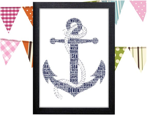 Personalised Anchor Print