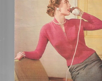 LAVENDA 464 Original Vintage Ladies Knitting Pattern