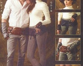 Steampunk & Cosplay Accessories Unisex Spats, Fingerless Gloves, Hats and Belts McCalls Sewing Pattern M6975 UnCut All Sizes Included