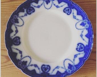 W.H. Grindley vintage blue & white side plate