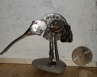 Steampunk Bird made from watch parts and other found objects