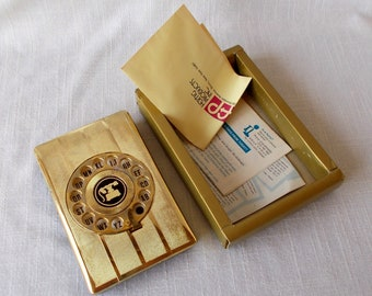 Vintage Telephone Address Book, Phone Index, New in Box
