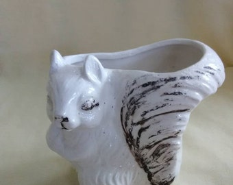 1960's vintage squirrel planter. Made in Japan.
