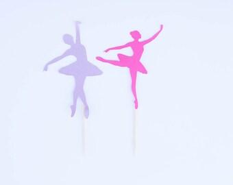 Ballerina Cupcake Topper, Ballerina Party, Dance Party, Dance Birthday, Ballet Birthday, Dance Toppers, Set of 12
