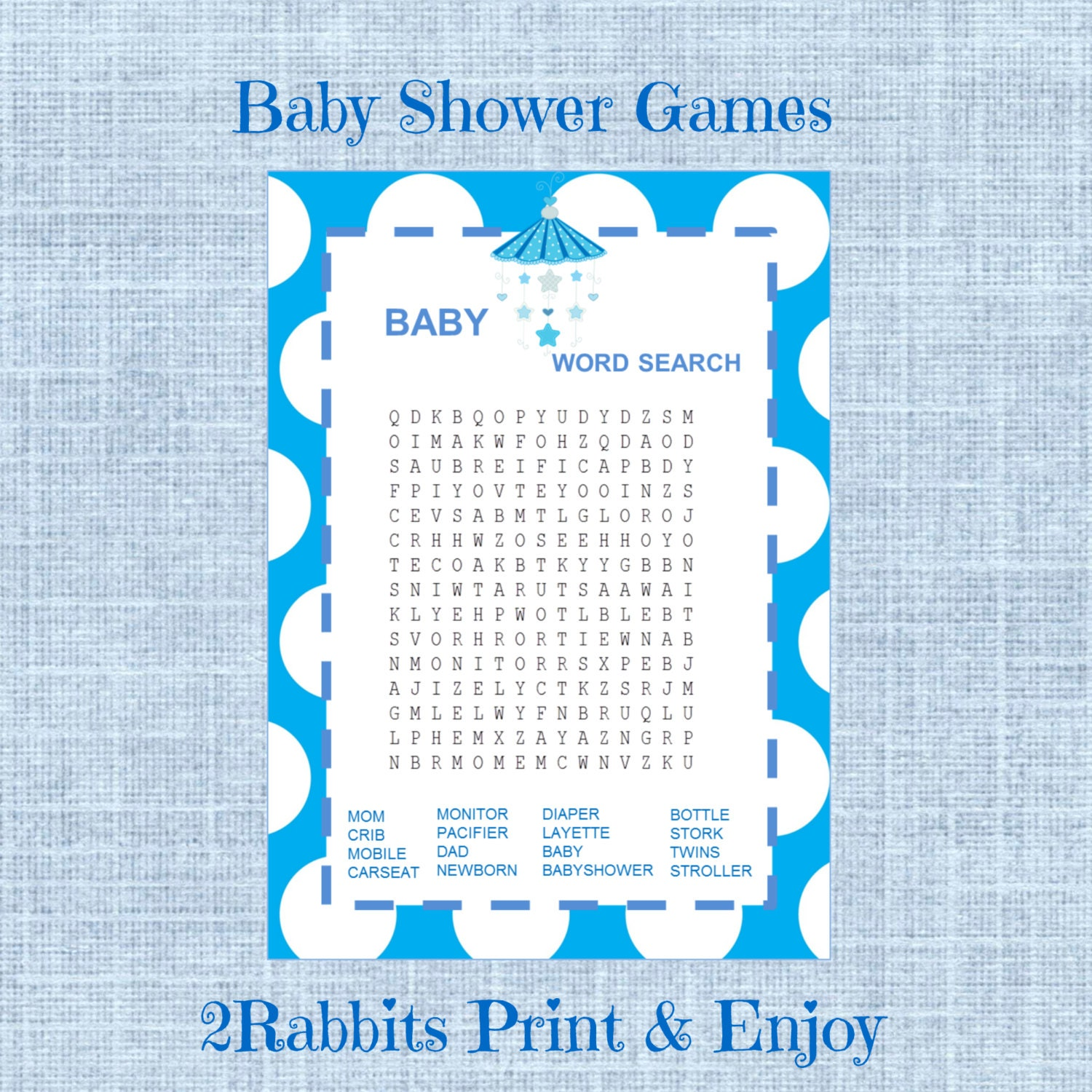 Baby Shower Word Search - Puzzles to Print