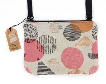 crossbody bag, shoulder bag for woman, vegan bag, shoulder purses, italian bag, small bag, geometric fabric bag, ladies bag