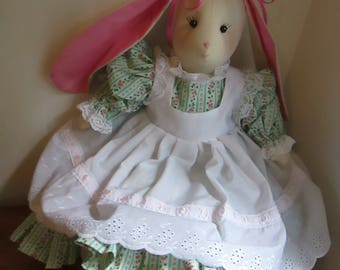 "Doll Made From Vintage Pattern - Miss Bunny 18"" high"