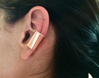 Copper ear cuff, simple ear cuff, cute ear cuff, ear cuff non pierced earring, hair jewelry, copper jewelry, hair beads