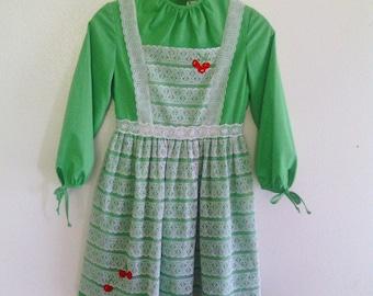 vintage 60's Ruth Of Carolina DRESS Mod Prairie LACE twiggy sz 14