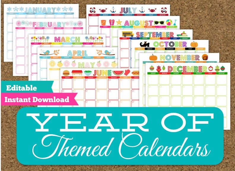 Free Fillable Monthly Calendar 2015 Printable Worksheet Coloring