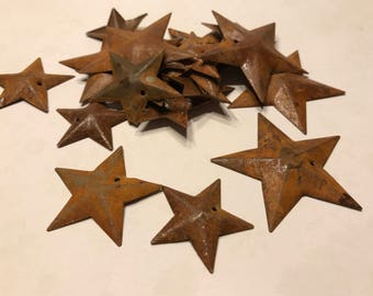 set of 3 different size rustic star ornaments embellishments, 25, 40 and 45 mm (BB1/6)