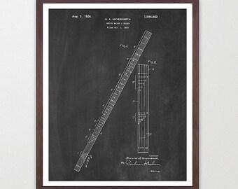 Math Class - Math Patent - Math Poster- Classroom - Math Art - Engineer - Engineering - Mathlete - Math Art - Ruler - Ruler Patent