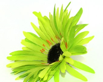 Lime green silk etsy lime green wild gerbera daisy artificial flowers silk flower heads pre order mightylinksfo