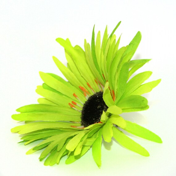 Lime green wild gerbera daisy artificial flowers silk flower lime green wild gerbera daisy artificial flowers silk flower heads pre order from silkinspirations on etsy studio mightylinksfo Images