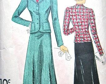 Spring Sale 1930s Du Barry 2072B Vintage 30s Women's Suit Sewing Pattern   Bust 34 Hip 37
