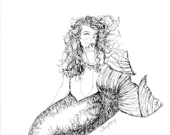 Loving Lana the Mermaid; C-Print; Chromogenic Print; Fantasy Art